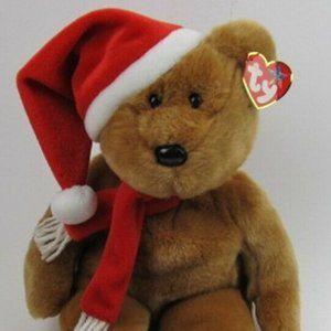 Ty 1997 Holiday Teddy Bear Beanie Buddy Retired